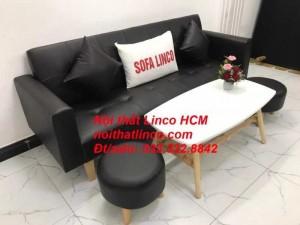 Sopha, salong nệm, Sofa màu đen | ghế sofa màu đen | sofa vải simili đen giá rẻ Nội thất Linco HCM Tphcm sài gòn quận thủ đức bình thạnh, tân bình tân phú nhuận