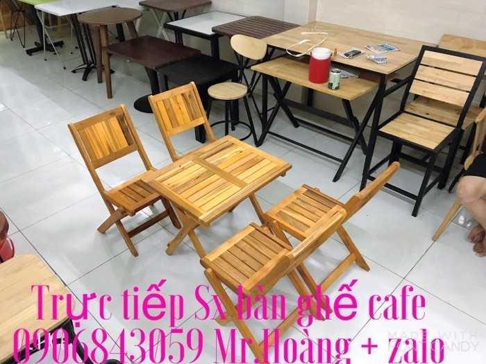 Bàn ghế xếp gỗ cafe - nội thất Nguyễn hoàng