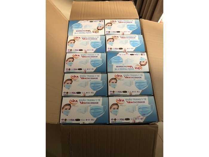 Khẩu trang y tế 4 lớp mua 3hộp giá 37k/1 hộp