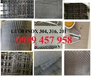 Chuyên lưới inox 304 dây 0,2mm, 1mm, 1,2mm, 1,5mm, 2ly, 3ly