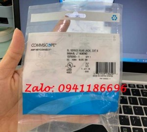 Nhân mạng Cat6 AMP RJ45 mã 1375055-1 MODULAR JACK CommScope