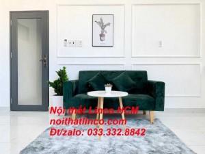 Ghế sofa dài 1m5 | Sofa băng nhỏ đa năng màu xanh rêu đậm | Nội thất Linco Tphcm huyện củ chi bình chánh hóc môn cần giờ