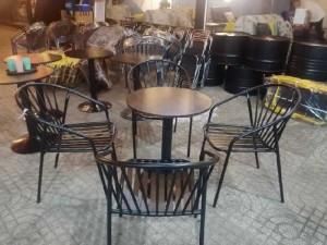 Bộ bàn ghế sắt cafe ngoài trời giá rẻ