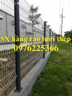 Hàng rào lưới thép D4 a50x200, D4 a100x200 chấn sóng, gập đầu