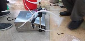 Máy chiết rót điện tử HZK 160, máy chiết rót tinh dầu thơm, máy chiết rót nước hoa