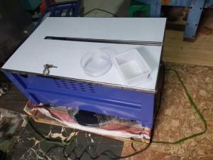 Máy đóng đai thùng, máy niềng đai thùng carton