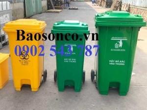 Thùng rác đựng chất thải chưa covid 19 ,thùng rác công cộng