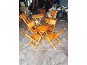 Bộ bàn ghế gỗ cafe Thiện Nhân TN075