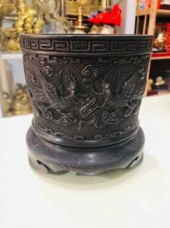 Bát hương thờ cúng bằng đồng đường kính 14cm
