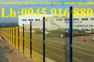 Hàng rào lưới thép mạ kẽm, hàng rào chấn sóng trên thân, hàng rào bẻ tam giác chất lượng cao