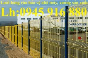 Hàng rào lưới thép hàn uốn sóng trên thân D5a50x100, D5a50x150, D5a50x200 mạ kẽm, sơn tĩnh điện giá rẻ
