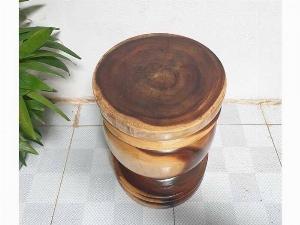 Đôn Gỗ Me Tây Tiện Tròn 04 ( D 35cm X Cao 49cm )