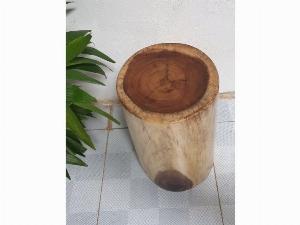 Đôn gỗ me tây tự nhiên a1 ( d27cm x h45c