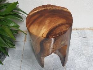 Đôn gỗ me tây tự nhiên a3 (d31cm x h50cm
