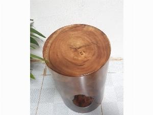 Đôn gỗ me tây tự nhiên a8(d30cm x h45cm)