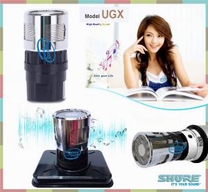 Củ Micro SHURE UGX đầu lõi inox là sản phẩm hát rất nhẹ, giảm hú chuẩn