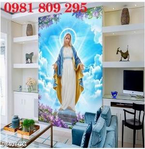 Gạch tranh 3d thiên chúa ,công giáo khổ đứng