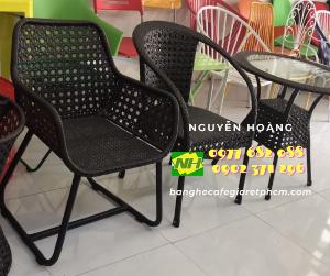 Ghế cafe ghế nhựa giả mây giá xưởng Nội Thất Nguyễn Hoàng Sài Gòn