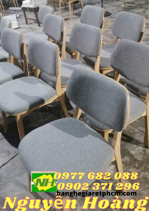 Ghế gỗ tựa lưng mặt nệm lưng nệm Nội Thất Nguyễn Hoàng Sài Gòn