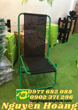 Ghế sắt xếp gọn lưng cao Nội Thất Nguyễn Hoàng Sài Gòn