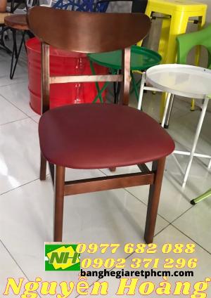 Ghế gỗ mango có tựa lưng bọc nệm Nôi Thất Nguyễn Hoàng Sài Gòn