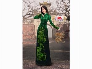 Vải áo dài nhung đính đá 9187-28-10 của vải áo dài Kim Ngọc