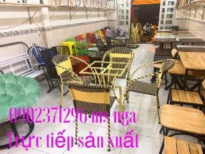 Bàn ghế giả mây giá tốt  Nội Thất Nguyễn Hoàng Sài Gòn