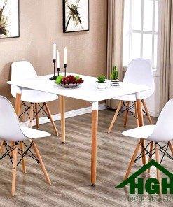 Bàn ghế cafe hiện đại chân gỗ Hồng Gia Hân 07