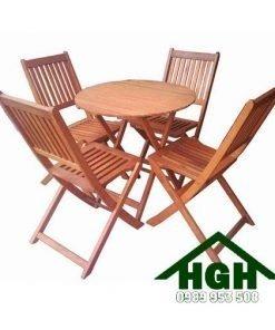 Bàn ghế cafe gỗ Hồng Gia Hân 11
