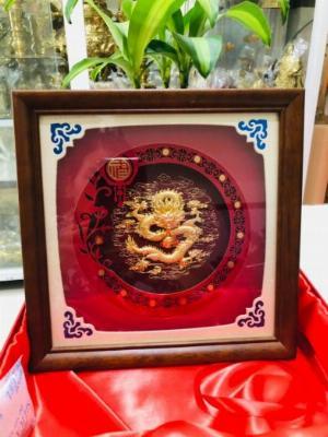 Tranh rồng mạ vàng quà tặng tết 2021