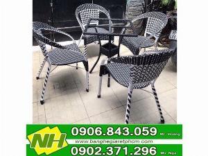 Bàn ghế nhựa giả mây giá tốt- nội thất Nguyễn Hoàng