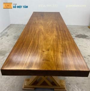Mặt bàn gỗ nguyên tấm dài 2,76m gỗ lim