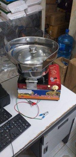 Máy làm bắp rang bơ chạy ga mini inox