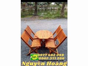 Bộ bàn ghế gỗ xếp (nội thất Nguyễn hoàng tphcm)