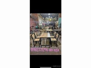 Bộ bàn ghế xếp sắt quán ăn I nội thất Nguyễn hoàng tphcm