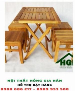 Bàn ghế cafe cóc HGH21