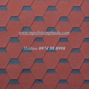 Ngói bitum phủ đá kiểu dáng tổ ong màu đỏ