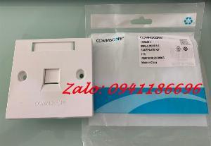Phân phối mặt vuông WallPlate CommScope/ AMP 1,2 Port chính hãng hàng có sẵn