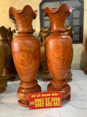 Giá lục bình gỗ Hương đỏ phong thuỷ 1m8 khơi thông tài lộc