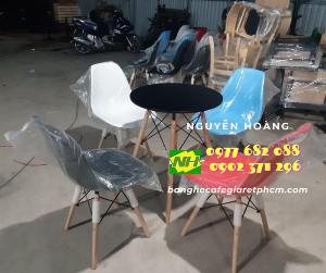 Ghế nhựa chân gỗ  Nội Thất Nguyễn Hoàng Sài Gòn