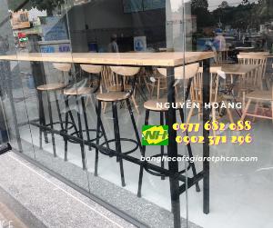 Ghế gỗ chân cao Nội Thất Nguyễn Hoàng Sài Gòn