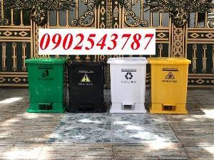 Thùng rác 20 lít đạp chân giá rẻ tại HCM