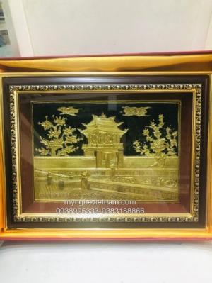Tranh chùa Một Cột quà tặng Tết 2021 50cm