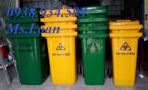 Thùng rác công cộng 240 lít,thùng rác nhựa 240 lít giá rẻ