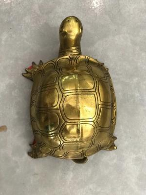 Tượng rùa phong thuỷ bằng đồng cao 6cm