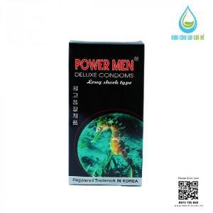 Bao Cao Su Powermen Cá Ngựa 4 In 1 (Hộp 12 Cái) Tặng Gel Bôi Trơn cao cấp