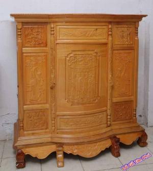 Tủ thờ đẹp giá rẻ 6 chân gỗ căm gõ