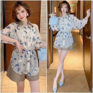 Set quần short áo cánh bướm - HK