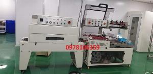 Máy cắt dán và rút màng co hộp bằng màng POF, máy đóng gói màng co POF tự động, máy quấn màng co