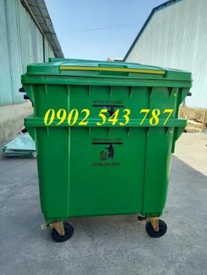 Xe thu gom rác 660 lít nhựa HDPE nguyên sinh
